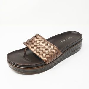 Donald J Pliner Bronze Metallic Fifi Thong Sandals